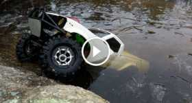 SCX10 Toyota Hilux RC Car Drives Under Ice water 1