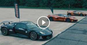 Ultimate Hypercar Drag Race McLaren P1 v LaFerrari v Porsche 918 Spyder 2