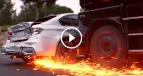 Car Chase Scene movie overdrive expensive luxurious truck 3