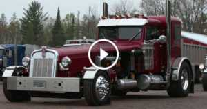 Car enthusiast Converted Semi Truck Into A Motorcycle Trike 2