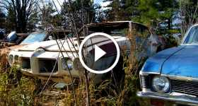 Classic Muscle Cars Left To Rod in a Junkyard 2