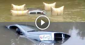 Dodge Submerged Truck Is Rescued 4