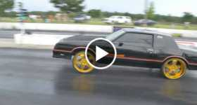 Monte Carlo SS Chevy 24 inch tires drag race 4