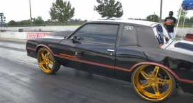 Monte Carlo SS Chevy 24 inch tires drag race 6