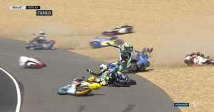 Moto3 Get Knocked Over By A Slippery Track 1_1