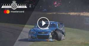 NASCAR Driver Crashes Goodwood 2