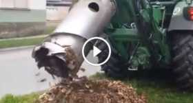 Stump Grinding Machine Removes Trees 2