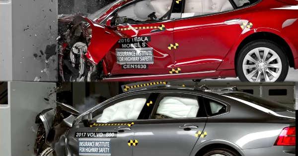 Tesla Model 3 vs Volvo S60 CRASH TEST 2
