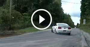 Uphill Drifting supercharged Mustangs 1