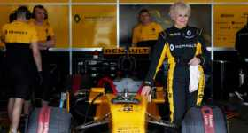 79-year-old Rosemary Smith drives a Formula 1 renault 2