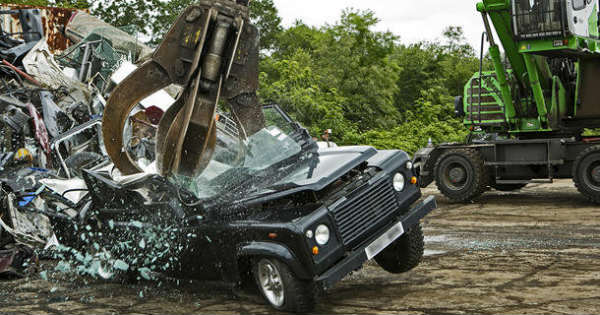 Customs Seized destroyed 40 Land Rover Vehicles Failing Safety Rules 1