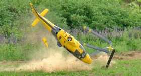 Gigantic RC Helicopter Crash 1
