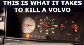Guy Abuses Poor Volvo kill car destroy 6
