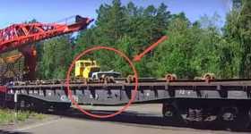 Impatient Truck Driver train runs road 4