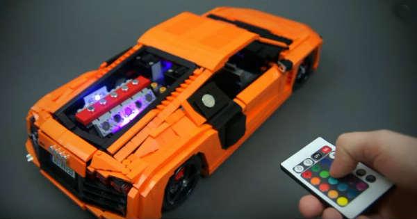 Incredible LEGO Audi R8 V10 2