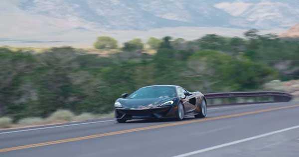 McLaren 570 GT Offroading On Dusty Dirt Road 2