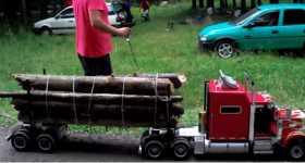 Mini Peterbilt Truck Remote Control RC wood transport 2