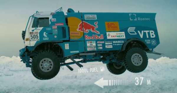 Russian Kamaz Truck snow jump 2