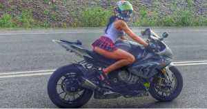 Russian Stunt Lady Known as The Sexiest Motorcyclist Dies 1