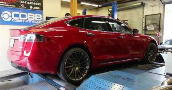 Tesla Model S P100D Placed Dyno test 1