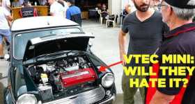 VTEC Mini Visits Classic Car Meet Cooper 1