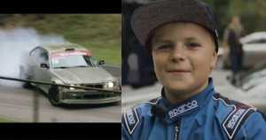 12 Year Old Drifter Burns Tires 1