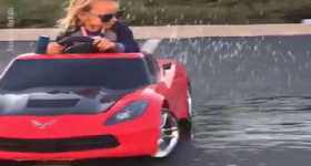 5-Year Old Girl Drifts Her Corvette 1