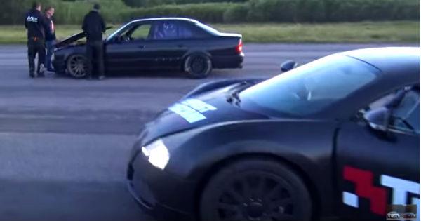 BMW M5 E34 vs Bugatti Veyron 2