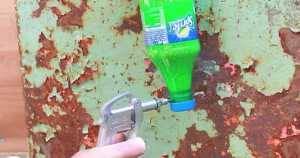 Check out this amazing video tutorial on How To Make A SAND BLASTER With A Little SODA Bottle 1