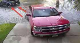 Chevy Silverado vs Ford Raptor Parking Spot 1