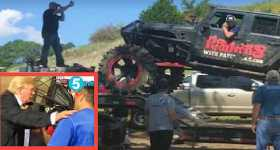 Derrick Morse Rescued People Using His Monster Truck 1