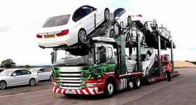 Eddie Stobart Transporter Loading BMW 1