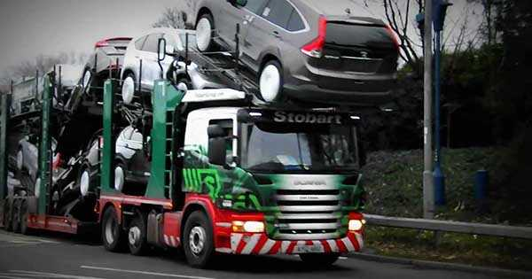 Eddie Stobart Transporter Loading BMW 2