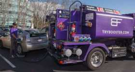 Futuristic Fuel Delivery App gas gasoline car 1