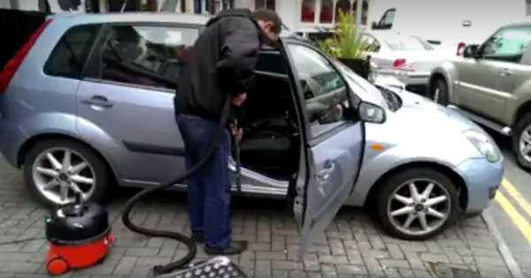 Hilarious Prank vacuum cleaner car 2