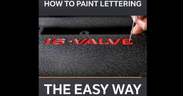 How To Paint Lettering On Your Valve Covers tutorial 2