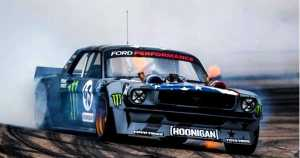 Ken Block CLIMBKHANA With 1400 HP Methanol-Fed Twin Turbo Hoonicorn V2 Mustang 1