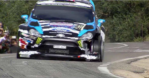 Ken Block Driving On 3 Wheels 2