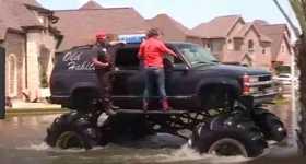 Monster Trucks Help People In Houston 1