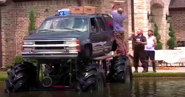 Monster Trucks Help People In Houston 2