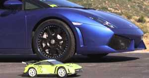 Which is Faster, Lamborghini Gallardo or an RC Car 1