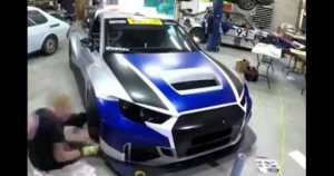 Race Car Wrapping Process 1