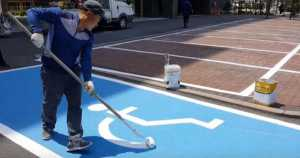 Serious Skills painting street sign 2