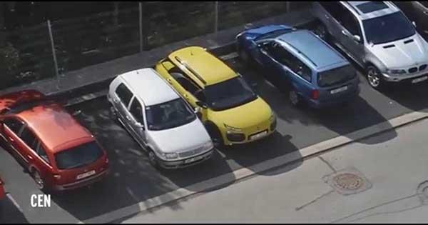 Worst Car Parking Fail Blonde Woman 1