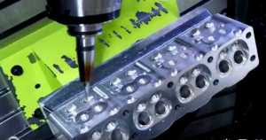 CNC Manufacturing Process Of An Engine Head 1