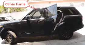 Calvin Harris Crash His RANGE ROVER Into Wall 1
