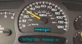 Chevy Silverado Celebrated 500000 Miles Truck Odometer 11