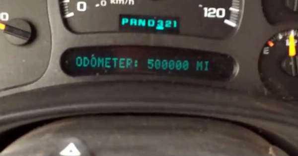 Chevy Silverado Celebrated 500,000 Miles Truck Odometer 3