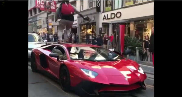Crazy Kid Jumps On Lamborghini Aventador SV In Front Of The Owner 2