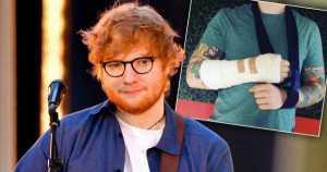 Ed Sheeran Was Hit By Car in LONDON 11